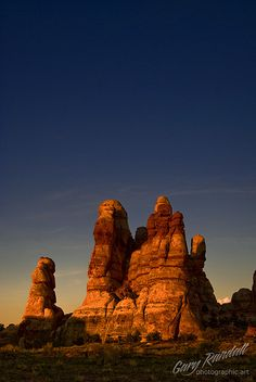 Dollhouse at sunset, The Maze District of Canyonlands National Park; photo by Gary Randall