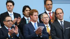 Prince Harry (C) looks on during the 2014 FIFA World Cup Brazil Group D match between Costa Rica and England