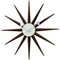 George_Nelson(ジョージ・ネルソン)「Sunburst_Clock(サンバースト・クロック)」ウォルナットカラー