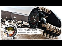 Triple Snake Knot Paracord Watch Strap | Band (Tutorial) - YouTube