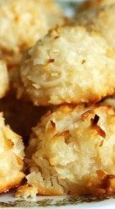 Coconut Macaroons - VERY, VERY GOOD. I used 1 tsp vanilla, & 1 tsp almond extract, folded all together with a wooden spoon, & didn't chill the dough. I made full teaspoonful sized cookies, on parchment papered airbake sheets. 350 for 12-15 min. Leave on sheets for a few min. before removing to racks. 5 to 6 dozen.