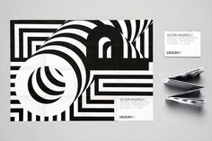 """Identity for Victor Vasarely's """"Optical Paintings"""" at Espoo Museum of Modern Art, Finland."""