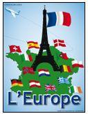 Programmation sur le thème de l'Europe avec des activités éducatives; jeux, bricolages, coloriages, histoires, comptines, chansons, fiches d'activités imprimables.
