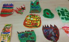 Create your own dinosaur footprints and decorate them. Designed by Sun class (Year 1)