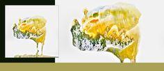 PODRÓŻ W NIEZNANE #żółty #akwarela #natura #indyk #przyroda #zieleń