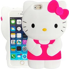 3D Hot Pink & White Hello Kitty Case for Apple iPhone 6 P…