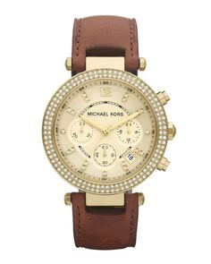 b5b06df35709 Buy Michael Kors Michael Kors Mid-size Parker Chronograph Glitz Watch now  at italist and save up to EXPRESS international shipping!