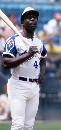 """The Hammer"" baseball great Hank Aaron [1934--] played major league ball from 1954-1976 and spent 21 seasons of those years with the Milwaukee/Atlanta Braves."