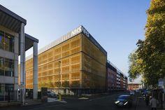 Grafton Street NHS Carpark, Public Building Exterior, Manchester, Designer by Central Manchester University