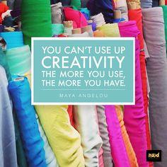 We love this creativity quote from Maya Angelou. #moodfabrics #creativity