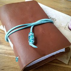 Pocket notebook Caramel leather notebook hand by BespokeBindery