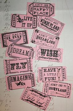 pink tickets (by Sea Dream Studio)