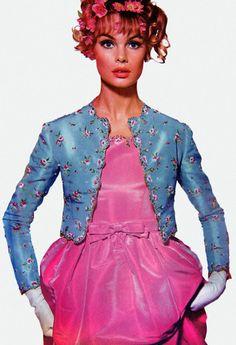 Candy colours . Jean Shrimpton . 1960s