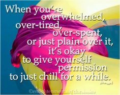 Chronic illness. I have to remember this!! Great advice
