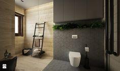 Drewno + szarość - Duża łazienka w domu jednorodzinnym z oknem, styl skandynawski - zdjęcie od ELEMENTY