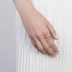 The Duo Oyster Ring by SARAH & SEBASTIAN0.