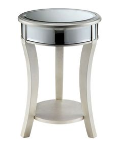 Macey Mirrored End Table