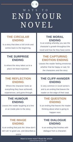Best Ways to End a Fiction #Book #amwriting #writingtips