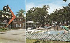 Oak Manor Motel - Biloxi, Mississippi | by The Cardboard America Archives