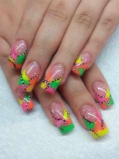neons by safarinails - Nail Art Gallery nailartgallery.nailsmag.com by Nails Magazine www.nailsmag.com #nailart