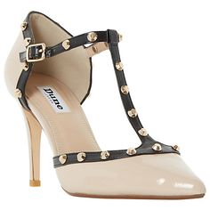 6d7512ff4134 Buy Dune Cliopatra Studded T-Bar Court Shoes Online at johnlewis.com  Pointed Toe