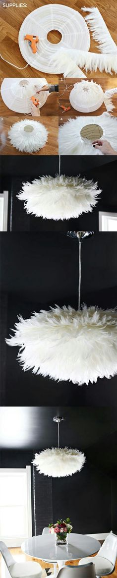 Suspension en plumes