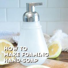 Effective DIY foaming hand soap that you can make for cheap. This foaming hand soap recipe is all-natural, organic, and powerful. You can make organic foaming hand soap recipe for under 50 cents a bottle! Homemade Hand Soap, Homemade Soap Recipes, Diy Foam Hand Soap, Liquid Hand Soap, Liquid Castile Soap, Essential Oils Soap, Homemade Beauty Products, Home Made Soap, Easy