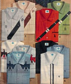 Menswear, 1960s Sears catalog