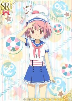 The Madoka Magica digital card game is back with more new designs for the girls, including some impressive circus outfits, summer camping-wear, and a tie-in to the sailor suits worn in anime producer I Love Anime, Awesome Anime, Anime Manga, Anime Art, Sayaka Miki, Fanart, Cute Chibi, Magical Girl, Shoujo