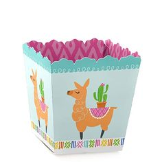 Amazon.com: Whole Llama Fun - Party Mini Favor Boxes - Llama Fiesta Baby Shower or Birthday Party Treat Candy Boxes - Set of 12: Toys & Games