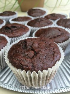 These Sour Cream Double Chocolate Muffins can be mixed up and in the oven in min. These Sour Cream Double Chocolate Muffins can be mixed up and in the oven in minutes, and the resul Muffin Recipes, Cupcake Recipes, Cupcake Cakes, Dessert Recipes, Cupcakes, Keto Recipes, Cooking Recipes, Freezer Muffins, Recipes Using Sour Cream