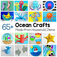 Grab some paper plates, egg cartons, cardboard tubes, and other common items from around the houseand create all kinds of sea animal and ocean crafts! This collection of sea animal crafts and ocean crafts can be made from recyclables and other common materials and includes links to directions for making starfish, whales, fish, walrus, octopus, …
