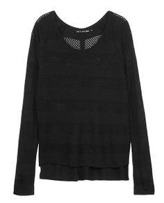 rag & bone Official Store, Genevieve Raglan Pullover , black fl, Womens : Ready to Wear : Tanks & Tees : Long Sl, W235605KN