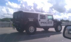 Hollywood, FL Police Hummer http://thesunshineboys.blogspot.com/