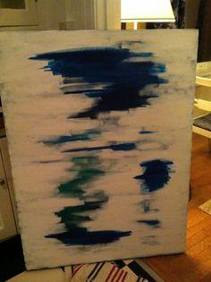 DIY abstract art, white, navy blue, green    ...BTW,Please see:  http://artcaffeine.imobileappsys.com