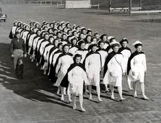 Army Nurses marching Greensboro, N.C. 1944