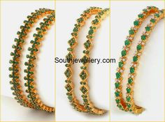 Indian Jewellery Designs - Page 9 of 1783 - Latest Indian Jewellery Designs 2020 ~ 22 Carat Gold Jewellery one gram gold Plain Gold Bangles, Ruby Bangles, Bridal Bangles, Gold Chain Design, Gold Bangles Design, Jewelry Design, Gold Jewelry Simple, Bangle Set, Bangle Bracelets