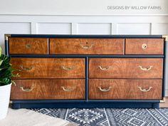 Antique Walnut Gel Stained Drexel Dresser | General Finishes Design Center