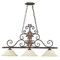 Forrest Lake Three Light Island Fixture The price on this item is a clearance price. It may not be returned.