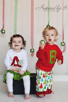 Christmas Outfit - Toddler Christmas Pajamas - Boys Christmas Set - Boys Monogram Christmas shirt and pants. $30.00, via Etsy.