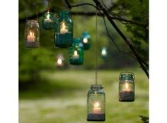 DIY : bougies dans des bocaux suspendus