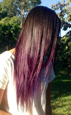 Brown to hint of purple ombre