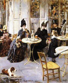 Eduardo León Garrido. A Parisian Café. 1886.