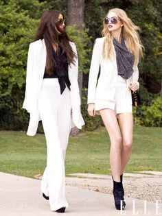 "elle: "" Resort 2012 Rachel Zoe Collection features one of the designers favorite thing… a white suit! See the rest of the resort collection and all of the latest! Photo: courtesy of Rachel Zoe. Business Fashion, Business Outfits, Business Women, Unique Fashion, Love Fashion, Fashion Show, Fashion Trends, Fashion Games, Fashion Models"
