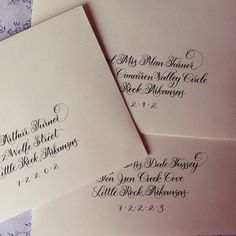 Primrose style envelope calligraphy by Anchor Port Calligraphy