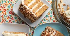 Moist sourdough carrot cake with ginger cream cheese frosting.