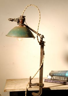 Vintage Clamp Desk Lamp by Californiarediscover on Etsy
