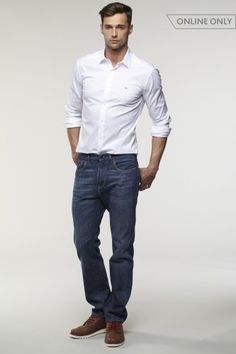 5 Pocket Relaxed Fit Ozone Wash Denim. Win Lacoste discount Gift Cards on http://www.cityhits.com and use them towards denim jeans like these. #mens #fashion #fall2013