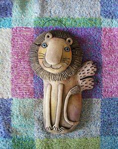 Lion Illustration, Reading Art, Lion Art, School Art Projects, Ceramic Clay, Handmade Toys, Clay Art, Art Dolls, Art For Kids
