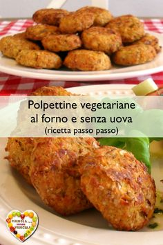 Baked vegetarian meatballs without eggs or oil Amazing Vegetarian Recipes, Quick Vegetarian Meals, Best Dinner Recipes, Vegetarian Cooking, Veg Recipes, Italian Recipes, Chicken Recipes, Cooking Recipes, Healthy Recipes